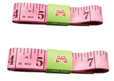 "Pink Body Measuring Ruler Sewing Tailor Tape Measure Soft Flat 60"" /150cm"