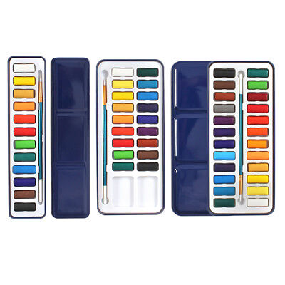 Solid Watercolour Pigments for Art Painting Beginner Child Sketch Suit Gift ~
