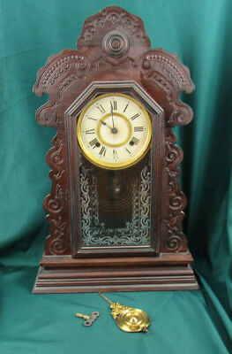 Antique Ansonia Gingerbread Clock For Parts Or Restoration