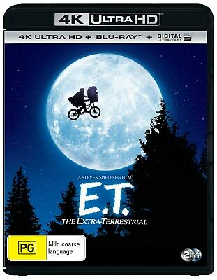 ET The Extra Terrestrial 4K Ultra HD Blu-ray Digital UV Copy Blu-ray Region B