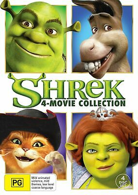 Shrek The 4 Movie Collection Box Set DVD Region 4 NEW