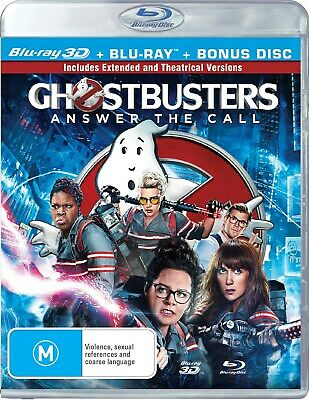 Ghostbusters 3D Edition with 2D Edition Digital Download Blu-ray Region B NEW