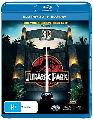 Jurassic Park 3D Edition with 2D Edition Blu-ray Region B NEW
