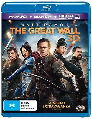 The Great Wall 3D Edition with 2D Edition Digital Download Blu-ray Region B NEW