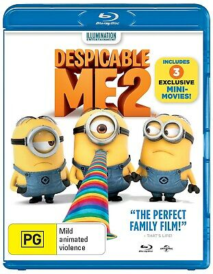 Despicable Me 2 3D Edition UltraViolet Copy Blu-ray Region B NEW