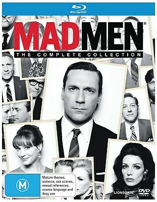 Mad Men The Complete Collection Box Set Blu-ray Region B NEW