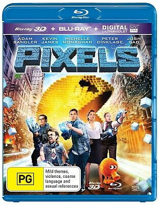 Pixels 3D Edition with 2D Edition Blu-ray Region B NEW