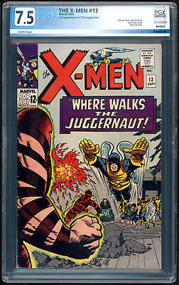 """The X-MEN #13 """"1965"""". 2nd App. of JUGGERNAUT with Cover & Story Art by KIRBY!"""