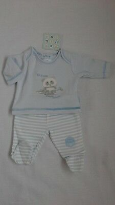 Premature preemie tiny baby boys clothes two piece set   3-5 lbs 5-8lbs BNWT