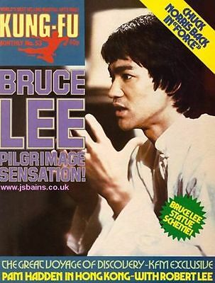 Kung Fu Monthly Poster Magazine no 53 - Excellent condition!! Bruce Lee KFM