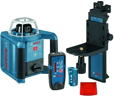 Bosch Self Leveling Rotary Laser Level 1000 ft Layout Beam Kit 6 Pieces Battery