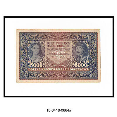 1919 Poland 5000 Marek Bank Note