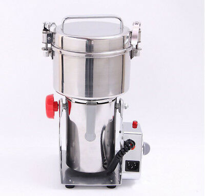 110V 4KW Commercial Stainless Steel Coffee Bean Grain Mill Grinder Crusher Mixer