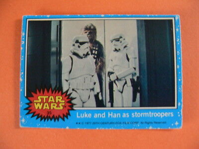 Star Wars. Topps Card. 1977. No.35. Luke & Han as Stormtroopers.