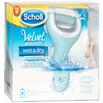 Dr.Scholl Velvet Smooth roll ricaricabile per pedicure wet&dry