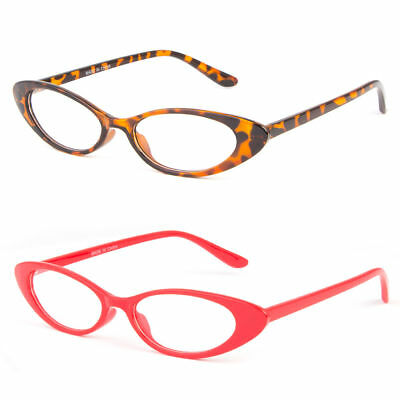 43be8cfdc3 Women CLASSIC VINTAGE RETRO CAT EYE STYLE CLEAR LENS EYE GLASSES Small  Frame 50s
