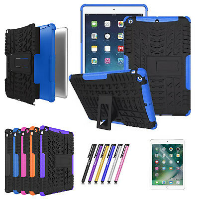 For iPad 9.7 2018 (6th Gen) Tablet Case Shockproof Rugged Hard Stand Armor Cover