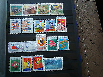 VIET NAM - 18 stamps canceled stamp