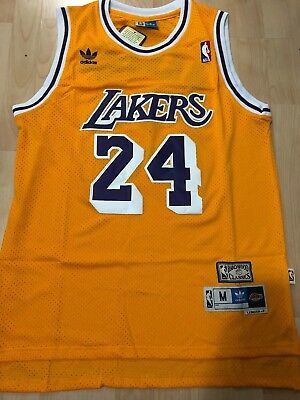 Kobe Bryant #24 Los Angeles Lakers Vintage Yellow Throwback Men Jersey
