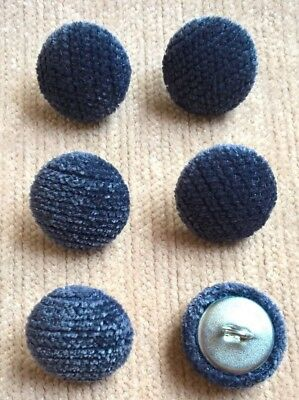 Textured Chenille 30L//19mm Grey Upholstery Fabric Covered Buttons Craft