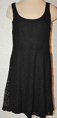 583b6618301af Women s Apt. 9 Black Lace Overlay Sleeveless Fit   Flare Stretchy Dress Size  PM