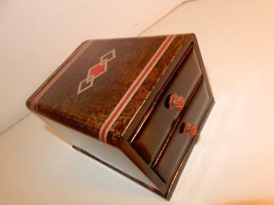 Vintage Antique Art Deco Men's Small Jewelry Trinket Box For Night Stand