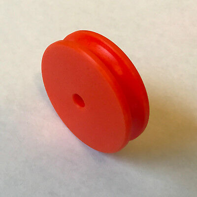 "Plastic Cable (Round Belt) Pulley - 2"" Outside Dia. for 1/4"" Dia. Belt - ORANGE"