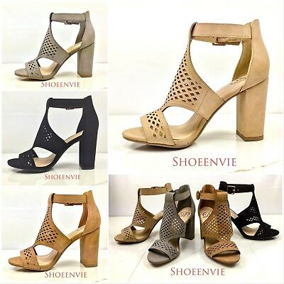 759d3d8204 New Women's Mary Jane Anytime Round toe Crossover Ankle Strap Block Heel  Sandals.