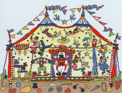 Cut-Thru Big Top Bothy Threads Cross Stitch Kit
