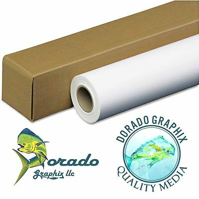 "36""x65' PSA Matte Adhesive Decal Vinyl wide format inkjet Canon Epson HP aqueous"