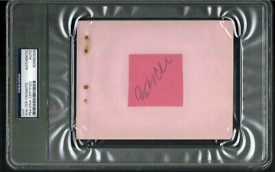 Walter Cronkite Signed  Psa/Dna Auto Huge Slabbed Autograph