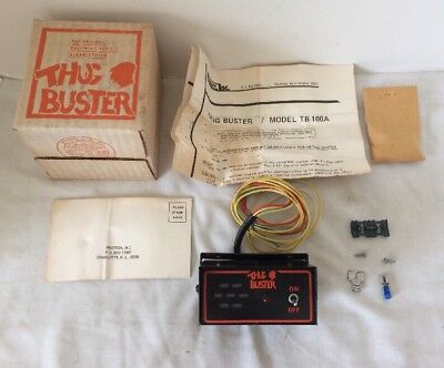 New Old Stock Vintage Thug Buster Accessory Car Auto Security Burglar Alarm