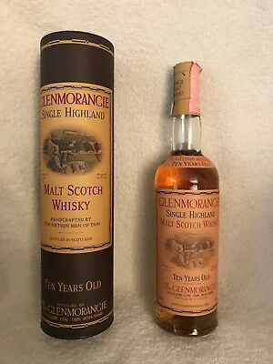 Whisky GLENMORANGIE 10 years old  ; SPECIAL OLD VERSION  ITALY- 43%vol  70 cl