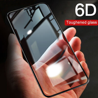 6D Tempered Glass Full Cover Edge  Screen Protector Film For iPhone X 7 8 6 Plus