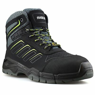3c43d6f8c63 Mens Leather Waterproof Safety Steel Toe Cap Work Ankle Hiker Boots Shoes  Size