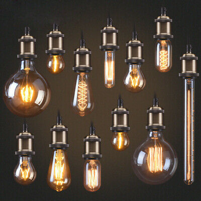 E27 B22 25/40/60W Vintage Retro Style Edison Bulb Filament Light Industrial Lamp