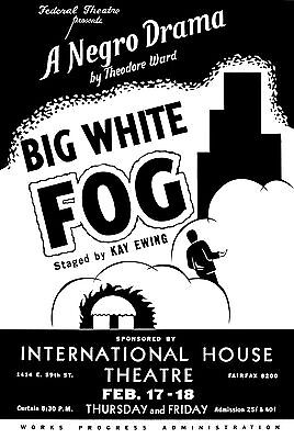 Old Vintage Theatre Poster Big White Fog - Fade Resistant HD Print or Canvas