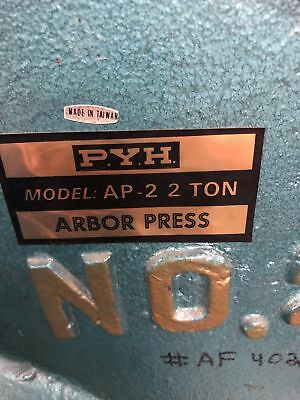PYH AP-2 2Ton Arbor Press
