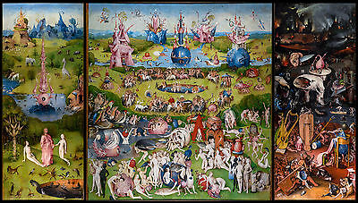 Hieronymus Bosch - The Garden of Earthly Delights, Museum Poster, Canvas Print