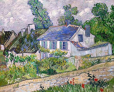 Vincent van Gogh 1889, House in Auvers - Fade Resistant HD Art Print or Canvas