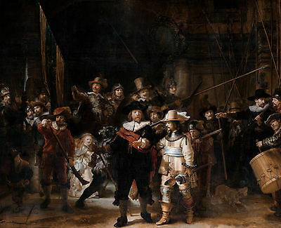 Rembrandt - The Nightwatch, Museum Art Poster, Canvas Print