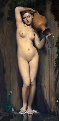 Jean Auguste Dominique Ingres - The Spring, Museum Art Poster, Canvas Print
