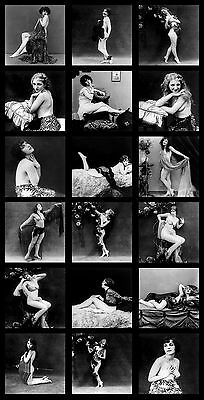 Vintage 1900's Nude Photos, Antique Naked Women, Erotic Art Poster, Canvas Print