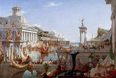 Thomas Cole - The Consummation The Course of the Empire 1836, Art Canvas Print