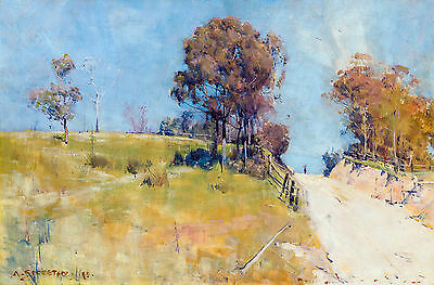 Arthur Streeton, Sunlight 1895, Fade Resistant HD Art Print or Canvas
