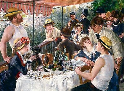 Renoir 1881, Luncheon of the Boating Party, Fade Resistant HD Art Print & Canvas