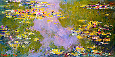 Monet 1919, Water Lilies, Lily, Canvas Print, Fade Resistant HD Print or Canvas