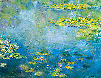 Monet 1906, Waterlilies, Lily Canvas Print, Fade Resistant HD Print or Canvas