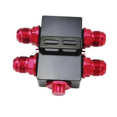 Oil Filter Sandwich Adapter With In-Line Oil Thermostat AN10 fitting M20 x 1.5