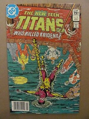 New Teen Titans #33 DC Comics Canadian Newsstand $0.75 Price Variant 9.2 NM-